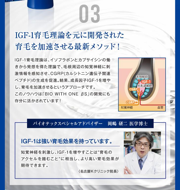 3.IGF-1育毛理論を元に開発された育毛を加速させる最新メソッド!